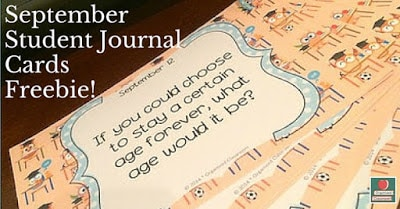 Grab some free September Student Journal Cards to start the year off right and be able to get to know your students better in the process!