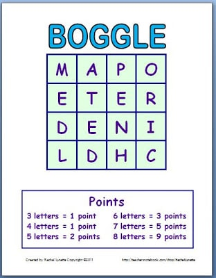 photograph about Boggle Printable called Boggle Template: Produce a Fresh new Video game Just about every Season! - Clroom Freebies