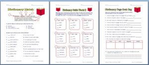 3 free dictionary worksheets classroom freebies. Black Bedroom Furniture Sets. Home Design Ideas