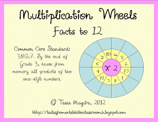 Math Fact Wheels - Classroom Freebies
