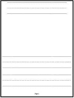 writing paper - Kindergarten Writing Template