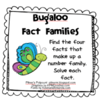 Bugaloo! – Multiplication and Division Fact Families