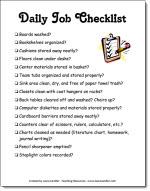 Daily Job Checklist Freebie