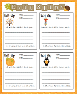 Exit slips used as informal assessment is one of the best strategies for knowing which students understood the lesson - and who did not.  It makes it even easier to know how to adjust your instruction for the next day. #exitslips #assessment