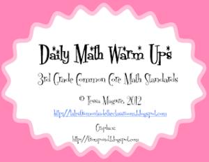 3rd Grade Ccss Daily Math Warm Ups Classroom Freebies