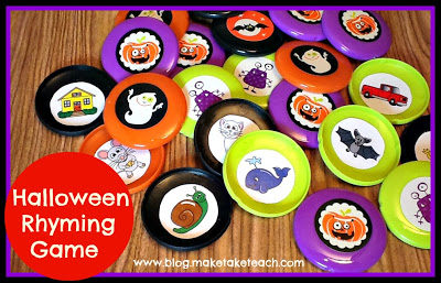 A Halloween Themed Rhyming Memory Game