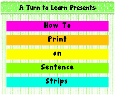 image about Printable Sentence Strips referred to as Print upon Sentence Strips!!! - Clroom Freebies