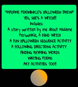 photo of Madame Periwinkle's Halloween Brew, Halloween, English Language Arts, student worksheets