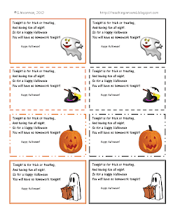Halloween Homework Passes!!