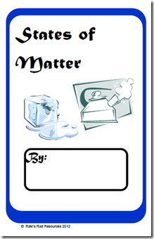 States of Matter Printable Booklet