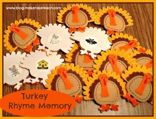 Thanksgiving Rhyming Activity