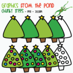 Chunky Christmas Tree Clipart