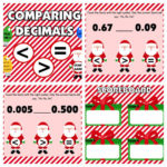 Comparing Decimals Santa-Themed Smart Board Game