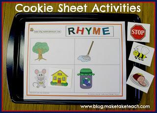 Cookie Sheet Activities- Rhyme