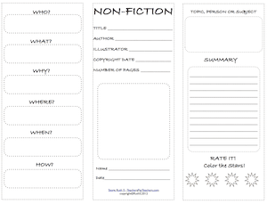 photo of NonFiction Student Worksheet, Free, PDF, student worksheet, TeachersPayTeachers.com, Ruth S.