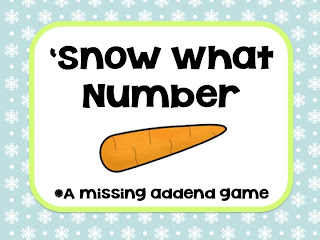 Snowman Missing Addends Practice!
