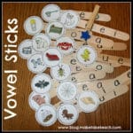 Vowel Sticks