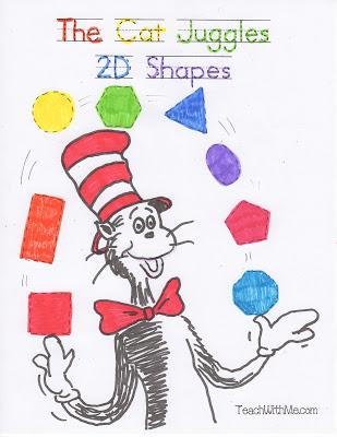 The Cat Juggles 2D Shapes