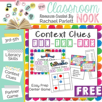 What is your favorite way to teach context clues?   Here is another option to add to your tool bag! #vocabulary #classroomgames