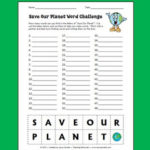 Save Our Planet Word Challenge