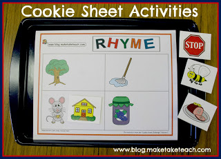 Cookie Sheet Activity- Rhyme
