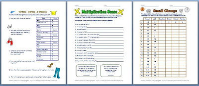 Math Enrichment Printables!