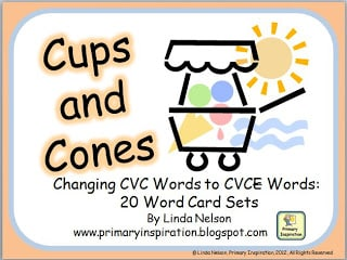 Short Vowels to Silent E Matching Cards