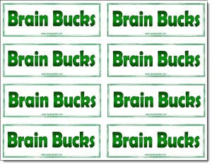 Brain bucks freebie classroom freebies for Classroom bucks template