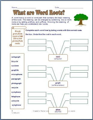 Prefix, Suffix, and Roots Printables