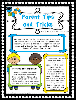 Parent Tips and Tricks for beginning readers