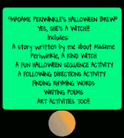 photo of Madame Periwinkle's Halloween Brew, FREE, PDF, worksheets, Ruth S. TeachersPayTeachers