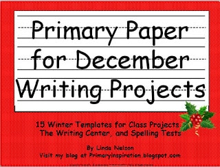 Monthly Primary Writing Paper: December! - Classroom Freebies