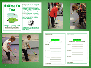 Golf Game for Adding Tens