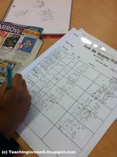 Book Club Order Forms Math