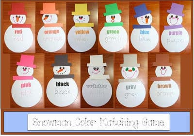 Snowman Color Matching Game