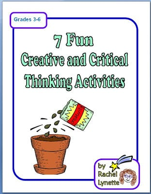 7 Creative and Critical Thinking Printables