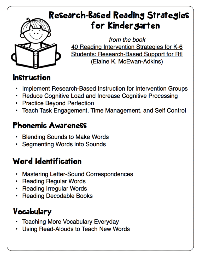 Research Based Strategies To Help >> Research Based Reading Strategies Handouts Classroom Freebies