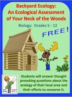FREE Ecology / Environment Assessment Activity