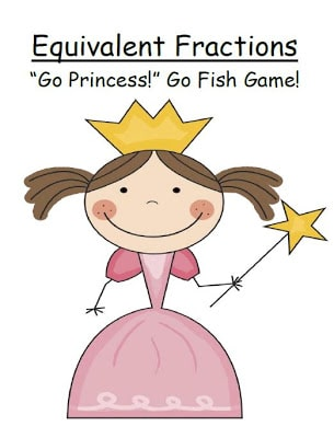 Fern Smith's FREE Go Princess Equivalent Fractions – A Go Fish Card Game!