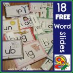 Free Word Family Sliders