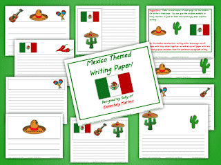 Mexico Themed Writing Paper