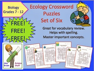 FREE Ecology and Environmental Science Crossword Puzzles