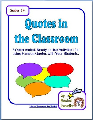 ELA, enrichment, printables, quotations, Quotes, Rachel Lynette,