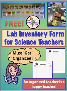 End of the Year Science Lab Inventory