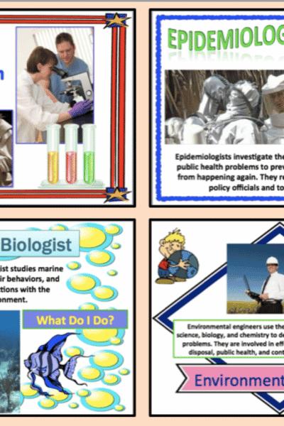Biology Careers:  Set of 26 Mini-Posters