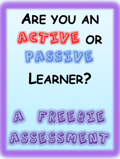 Helping Students Become Active Learners: Assessment Freebie
