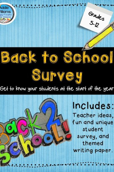 Back To School Student Survey!