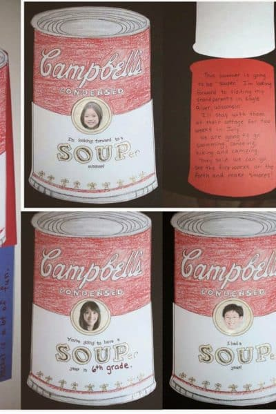 """Souper"" Fun Writing Prompt ""Craftivity""Packet"