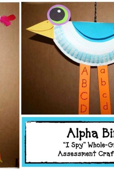 Alpha Bird Assessment Craftivity