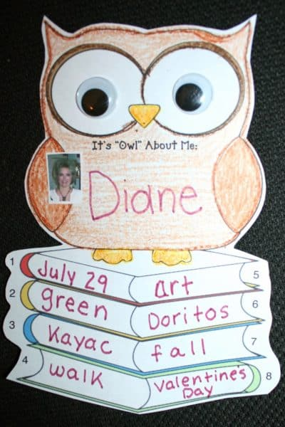 "It's ""Owl"" About Me Back To School Icebreaker"